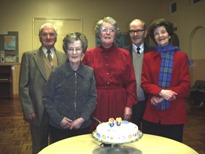 Morag with Torcul, Iain, Grace and Maeve at her 80thbirthday celebration