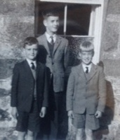 Gordon, Peter and Duncan at Castle Grant about 1963