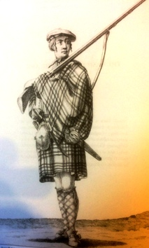 Highland soldier of the 1745 rising